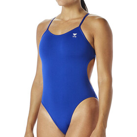 TYR Solid Cutoutfit Badeanzug Damen royal